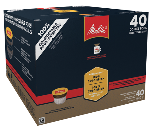 Melitta 100% Compostable Single Serve Pods