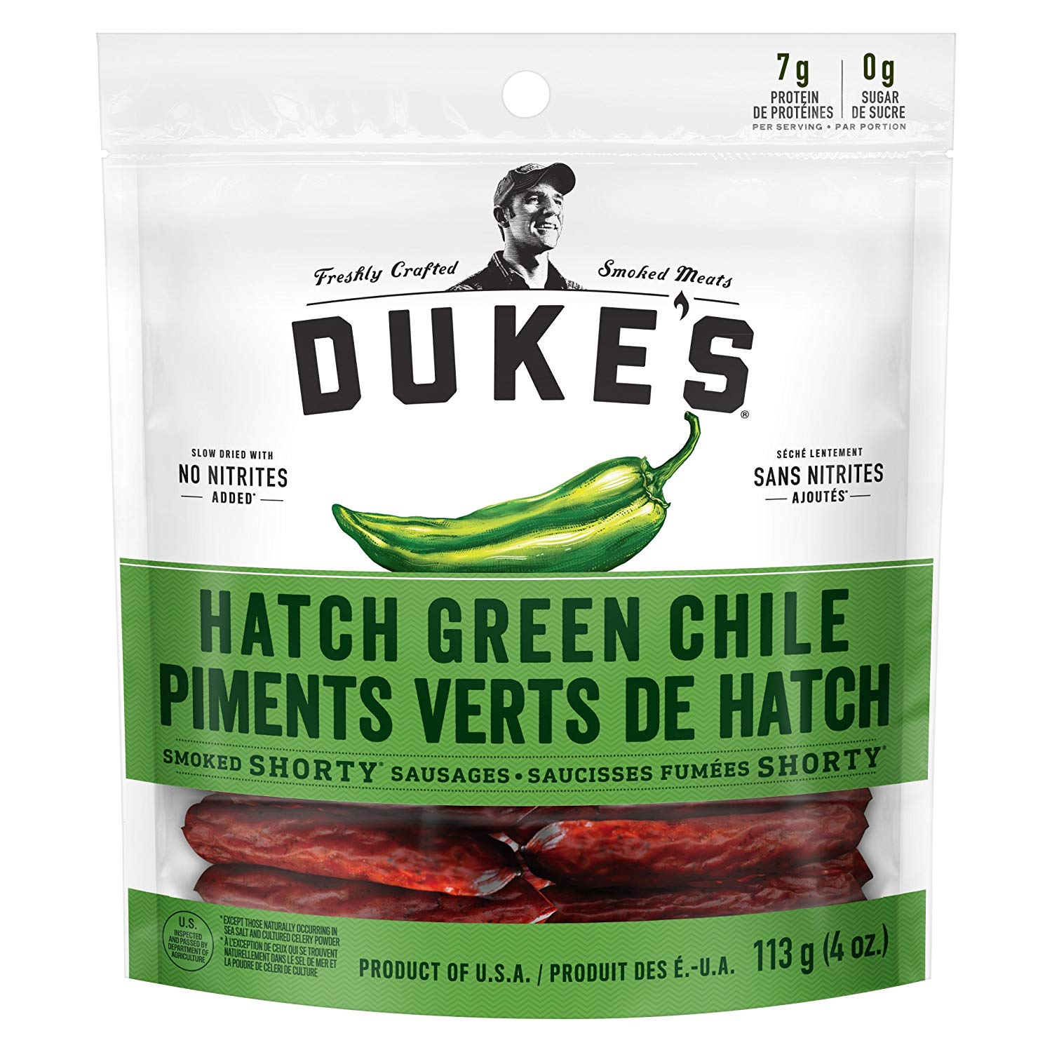 ONLY ON AMAZON: Duke's® Smoked Shorty Sausages - Hatch Green Chile