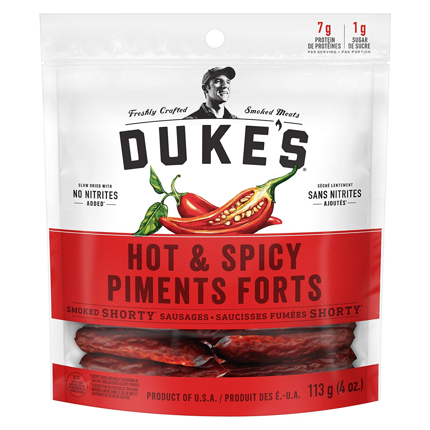 ONLY ON AMAZON: Duke's® Smoked Shorty Sausages - Hot and Spicy