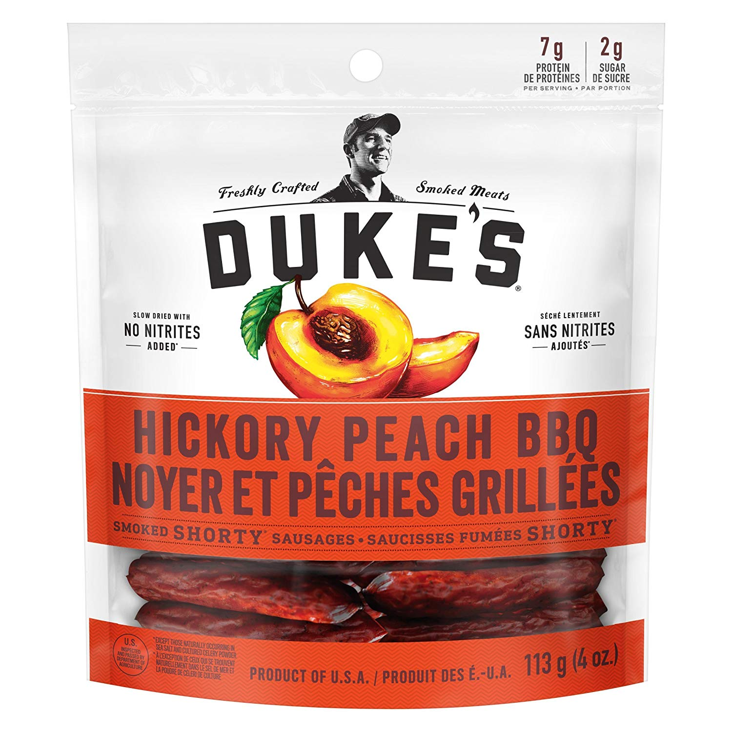 ONLY ON AMAZON: Duke's® Smoked Shorty Sausages - Peach BBQ